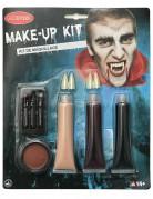Vampir-Schminkset für Halloween 9-teilig bunt