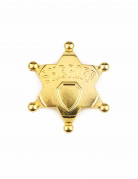 Sheriff-Stern Cowboy-Accessoire gold-schwarz 7,5cm