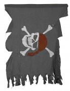Piraten-Flagge Halloween-Deko grau 50x40cm