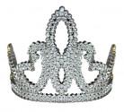 Prinzessinnen-Krone mit Strasssteinen für Mädchen silber