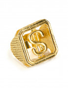 Dollar-Ring Gangster-Accessoire gold