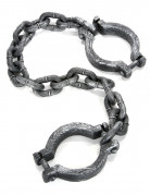 Handschellen Fussfesseln Halloween grau 44x10x4,5cm