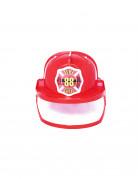 Feuerwehrmann-Helm Feuerwehraccessoire für Erwachsene rot-gelb-weiss