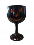 Kelch mit Kürbis-Dekoration Tischdekoration schwarz-orange 18 cm