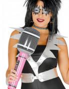 Riesiges Aufblas-Mikrofon Partygag blau-schwarz-silber