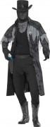 Zombie Phantom Sheriff Halloween-Kostüm schwarz-grau
