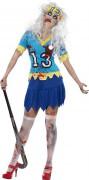 High School Zombie Halloween Damenkostüm Sportlerin blau-gelb