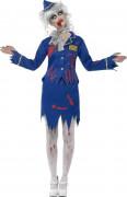 Zombie Stewardess Halloween Damenkostüm blau-rot