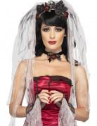 Gothic Horror Braut Accessoire-Set grau-schwarz