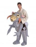 Aufblasbares Tauntaun™-Kostüm Lizenzartikel grau