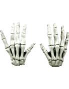 Kurze Latex-Handschuhe SkelettKostümaccesssoire weiss
