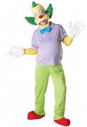 Krusty der Clown Lizenzkostüm Deluxe bunt