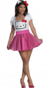 Hello Kitty Damenkostüm Lizenzware weiss-pink