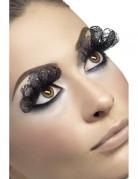Gothic Wimpern mit Spitze schwarz