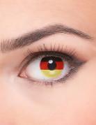 Kontaktlinsen Deutschland Fussball-Fanartikel schwarz-rot-gelb