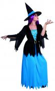 Magisches Hexenkostüm Halloween-Damenkostüm schwarz-blau
