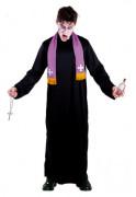Halloween Herrenkostüm Pater Karras Der Exorzist Lizenzartikel schwarz-lila-gelb