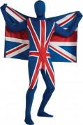 Originelles Vereinigtes Königreich-Kostüm für Erwachsene blau-rot-weiß