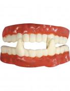 Vampir-Zähne Halloween Accessoire hautfarben-weiss