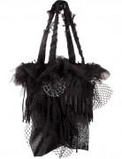 Hexen Spinnen-Handtasche schwarz-silber