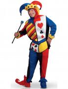 Kartenspiel-Joker Erwachsenen-Kostüm bunt