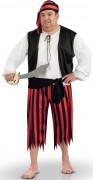 Seeräuber-Kostüm mit Kopftuch Herren rot-schwarz