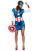 The Avengers Miss America Damenkostüm Lizenzware blau-weiss-rot