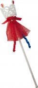 Schneewittchen-Zauberstab Mädchen glitzernd weiss-rot-blau