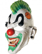 Halloween Punk Horrorclowns-Maske weiss-bunt