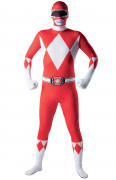 Hautenges Power Rangers-Erwachsenenkostüm rot