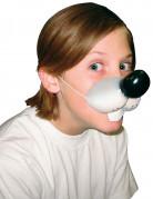 Weiche Maus-Nasen Maske für Kinder weiss-schwarz