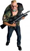 Big Bruizer Soldat-Herrenkostüm Militär camouflage-haut-schwarz