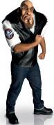 Big Bruizer Motorradfahrer Erwachsenen-Kostüm schwarz-weiß