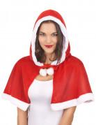 Weihnachtsumhang für Damen rot-weiss