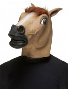 Pferd Maske Tiermaske braun-schwarz