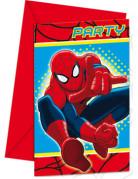 Spiderman™-Einladungskarten 6 Stück