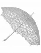 Sonnenschirm mit Spitze weiss