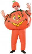Aufblasbarer Kürbis Halloweenkostüm orange