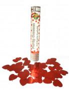 Herz-Konfettikanone rot 30cm
