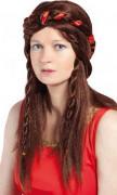 Mittelalter-Damenperücke braun