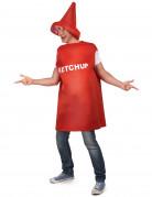 Ketchup-Kostüm Ketchub-Tube rot-weiss