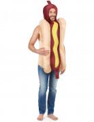 Hot-Dog-Kostüm Unisex Lebensmittel-Kostüm beige-braun-gelb