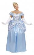 Prinzessin Damenkostüm Königin hellblau-weiss