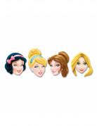 Disney Prinzessinnen™ Kartonmasken Kindergeburtstag Lizenzware 4 Stück bunt
