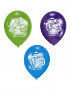Ninja Turtles Latexluftballons Raumdekoration 6 Stück grün-violett-blau