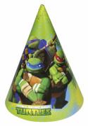 Ninja Turtles™-Partyhüte Comic-Mottoparty 6 Stück