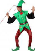 Weihnachtselfen-Herrenkostüm Weihnachtswichtel