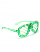 LED Brille Partybrille grün