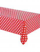 Tischdecke mit Punkten Partydeko rot-weiss 137 x 274 cm