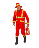 Feuerwehrmann Kostüm rot-gelb